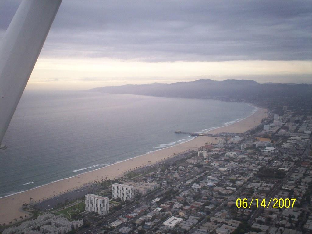 Santa Monica by air