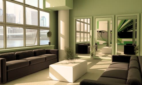 ��� ���� ������ ������ ���� 2014 Green living rooms 2015 3d_scenegreen_room_b