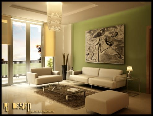 ��� ���� ������ ������ ���� 2014 Green living rooms 2015 living_room2_by_ryb_