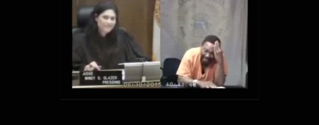 Arthur Booth appears in front of judge Mindy Glazer at Miami-Dade bond court. (SkyNews)