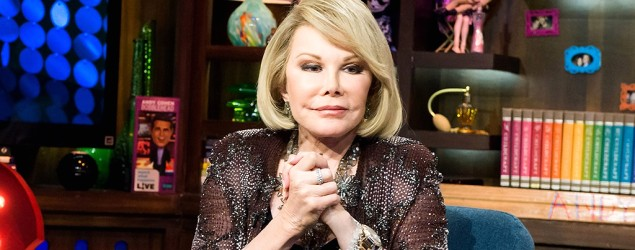 Joan Rivers is hospitalized in critical condition. (Getty Images)