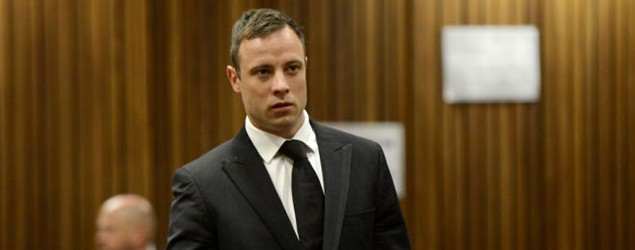 Oscar Pistorius attends his sentencing at the North Gauteng High Court in Pretoria. (AP)
