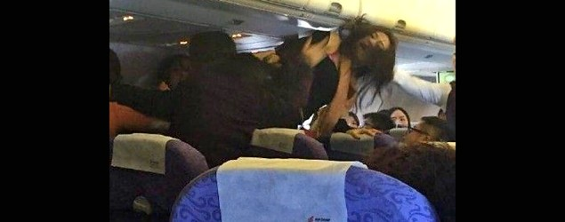 A fight broke out on an Air China flight after some passengers complained about a crying baby. (Twitter/W7VOA)