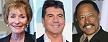 """TV stars with obscene salaries. L-R: Judge Judith """"Judy"""" Sheindlin (Ben Hider/Getty Images), Simon Cowell (Desiree Navarro/WireImage), Judge Joe Brown (Jeffrey Mayer/WireImage)"""