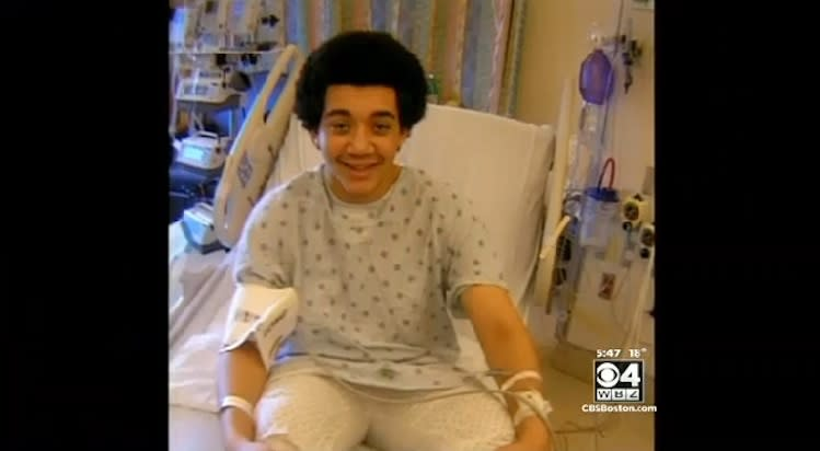 Chris Roberge, 15, survived a heart attack during a basketball game thanks to the fast action of spectators -- WBZ-TV