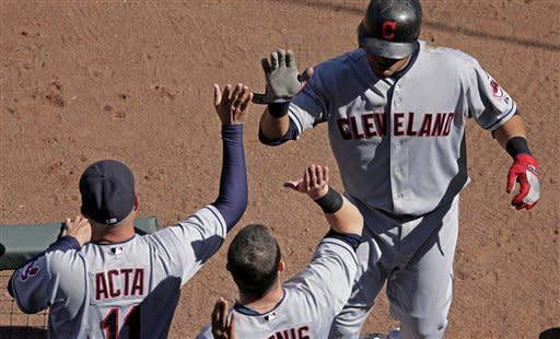 Santana's 2 HRs, 5 RBIs lead Indians over Royals