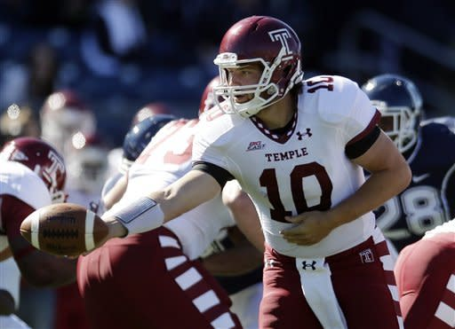 Harris leads Temple to 17-14 OT win over UConn