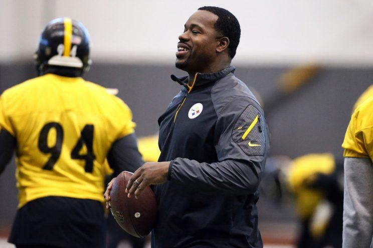 Steelers assistant coach Joey Porter was reinstated by the team Friday. (AP)