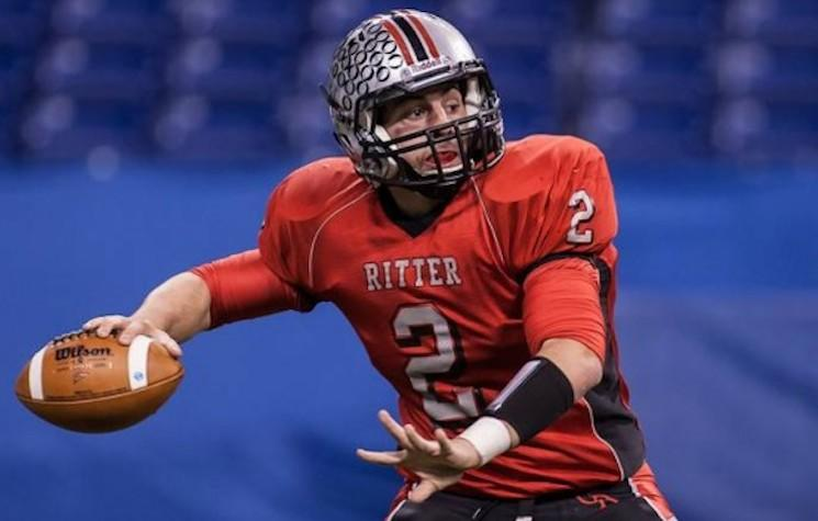 Cardinal Ritter quarterback Jake Purichia is now Indiana's career leader in touchdown passes — iHigh