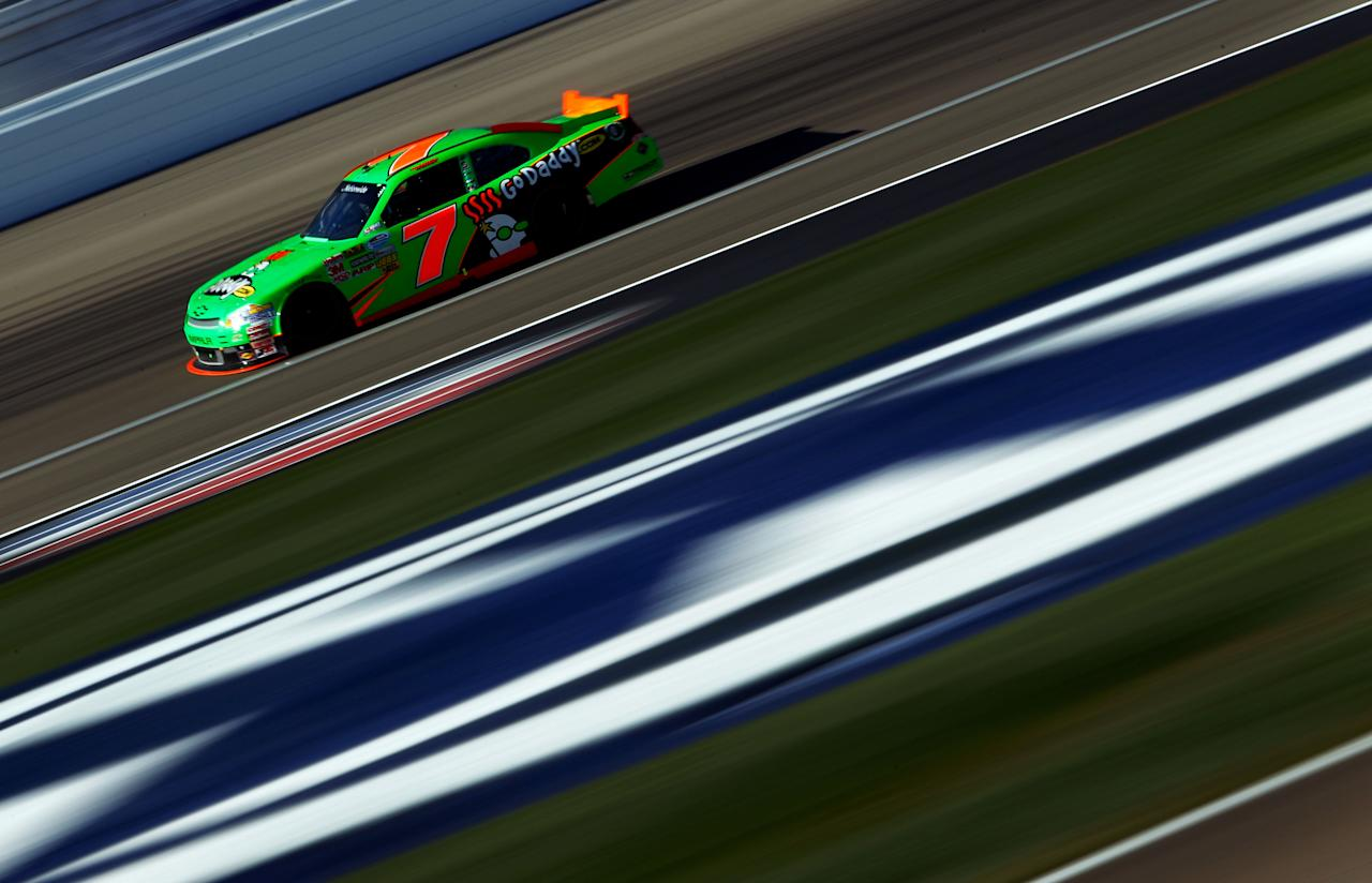 LAS VEGAS, NV - MARCH 10:  Danica Patrick drives the #7 GoDaddy.com Chevrolet during the NASCAR Nationwide Series Sam's Town 300 at Las Vegas Motor Speedway on March 10, 2012 in Las Vegas, Nevada.  (Photo by Tom Pennington/Getty Images)