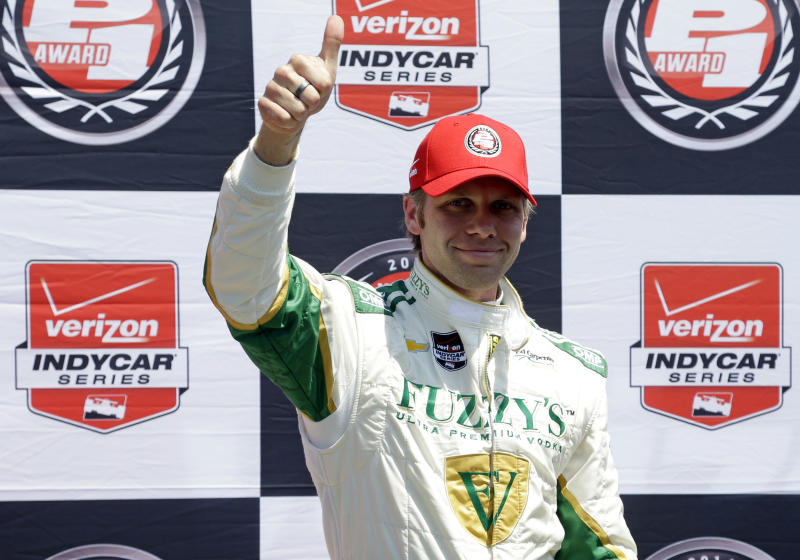 Carpenter wins Indy 500 pole for 2nd straight year