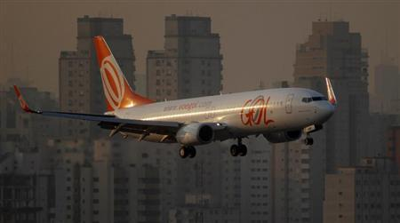 Brazilian airline Gol aircraft prepares to land at Congonhas airport in Sao Paulo