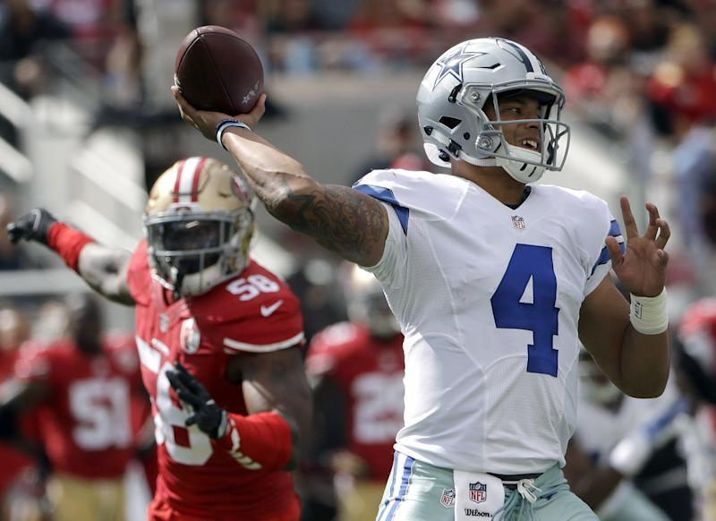 49ers offense stalls after fast start in loss to Cowboys