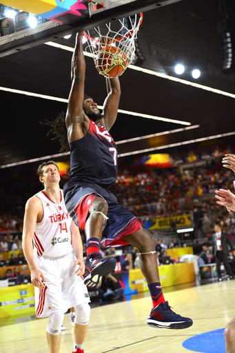 Down at half, US beats Turkey in basketball worlds