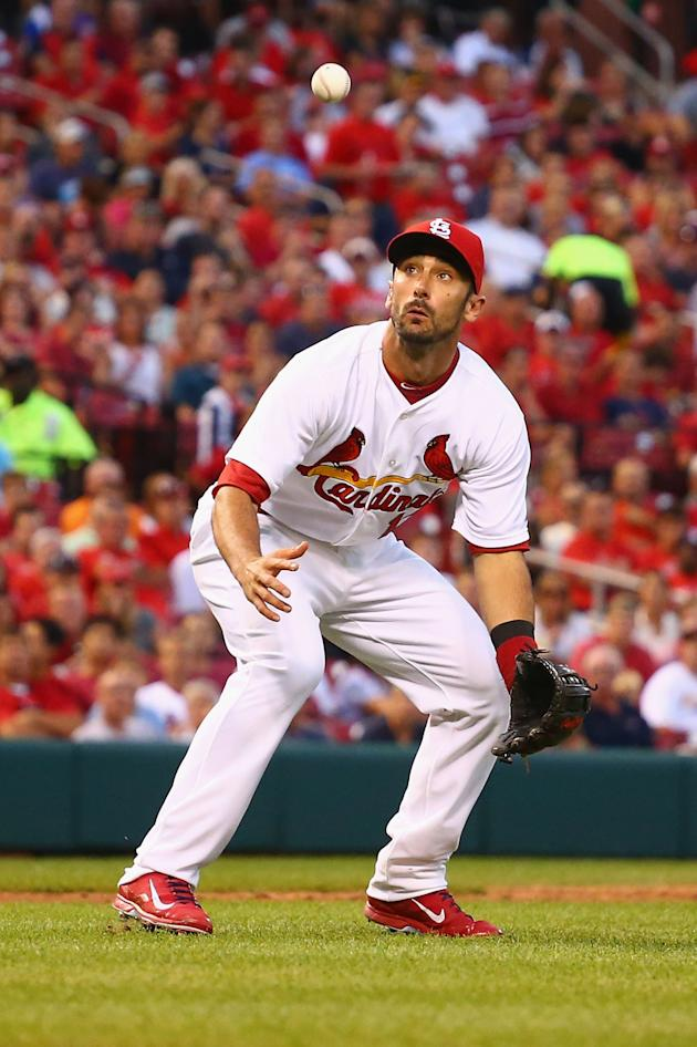 Matt Carpenter thought he was making a heads-up play, but there was one small problem. (Getty Images)