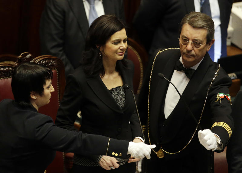 Italian Parliament elects center-left leaders