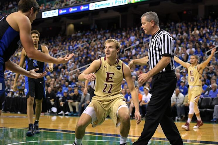 Grayson Allen's third tripping incident in 10 months occurred Wednesday against Elon (Getty Images)