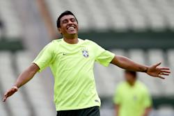 Paulinho takes part during a training session at Castelao Stadium in Fortaleza, Brazil. (Getty)