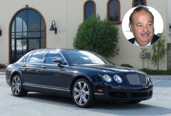 Carlos Slim Helu is the world's richest man, according to Forbes. The Mexican telecom giant drives himself to work in his Bentley Continental Flying Spur. But don't let his modest driving habit fool you: the price tag on the car is more than most houses at about $300,000. information via Forbes and bornrich.com.