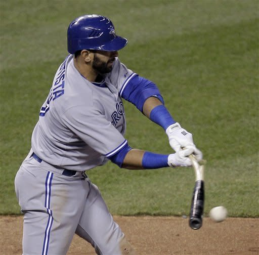 Triple play, Bautista carry Blue Jays past Royals