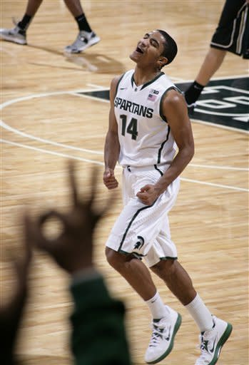 Harris scores 22, Michigan St beats Purdue 84-61