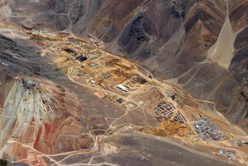 The gold processing plant under construction in Argentina, at Barrick Gold's Pascua-Lama mine site