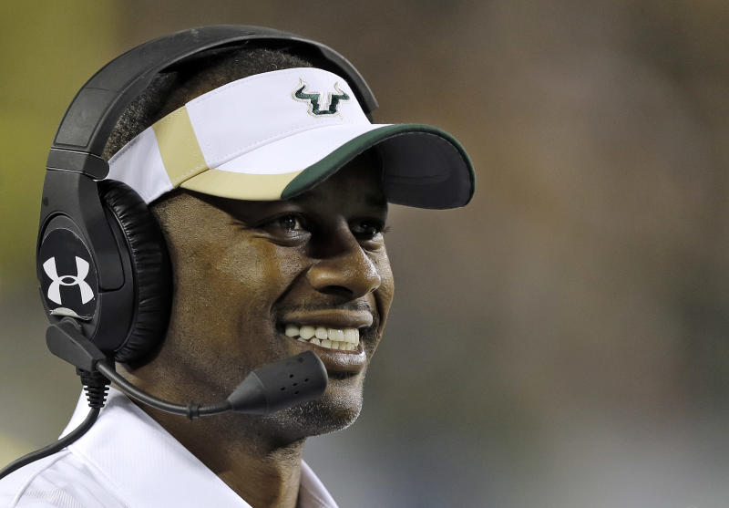 OR meets with USF's Willie Taggart, BSU's Bryan Harsin