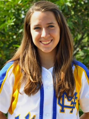 St. Lucy's senior softball player Danielle Mavridis — Minors Gold Softball