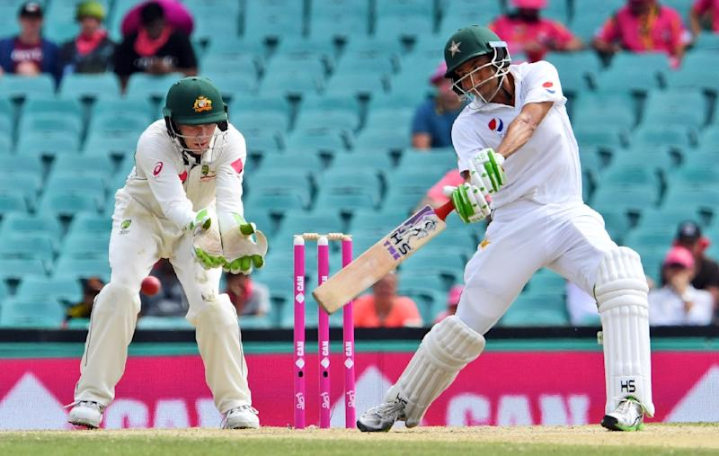 Nathan Lyon spins Australia into strong position despite Younis Khan century