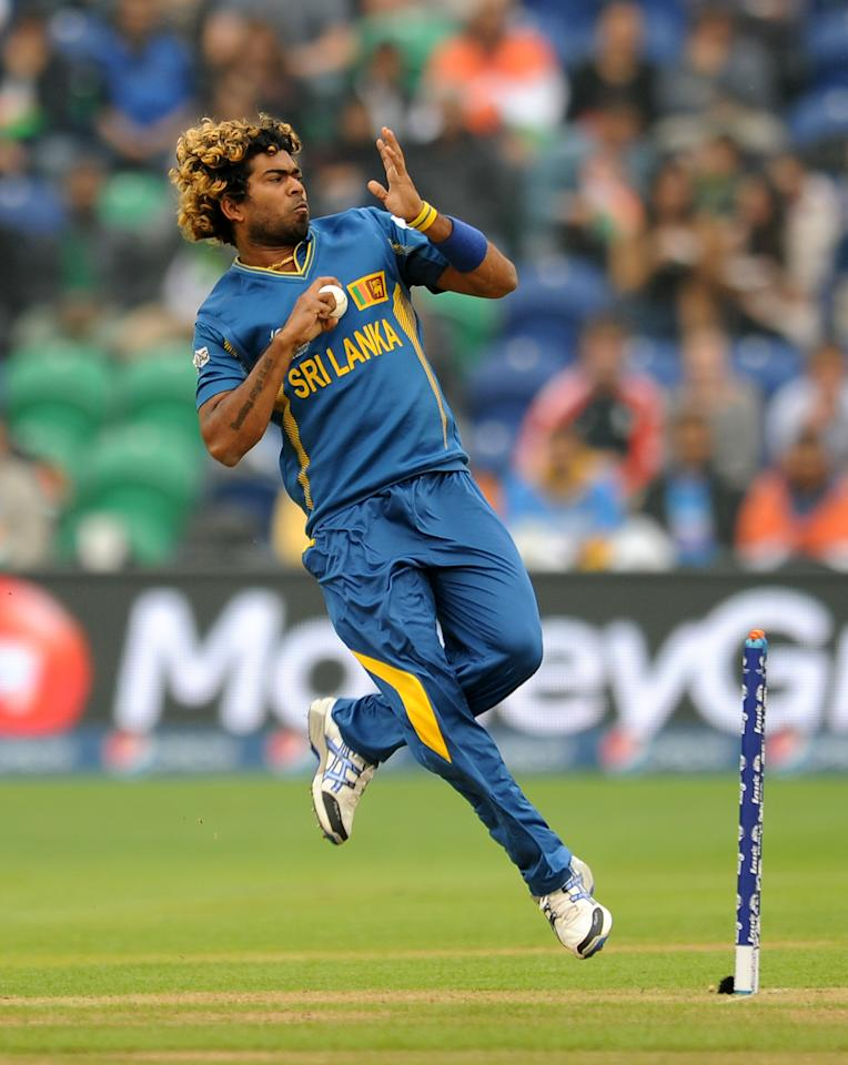 Sri Lanka's Lasith Malinga bowls during the ICC Champions Trophy, Semi Final at the SWALEC Stadium, Cardiff.