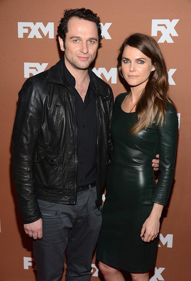 Matthew Rhys and Keri Russell attend the 2013 FX Upfront Bowling Event at Luxe at Lucky Strike Lanes on March 28, 2013 in New York City.