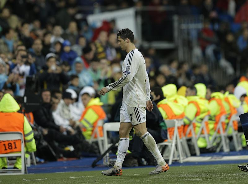 Ronaldo to miss Madrid's visit to Sociedad