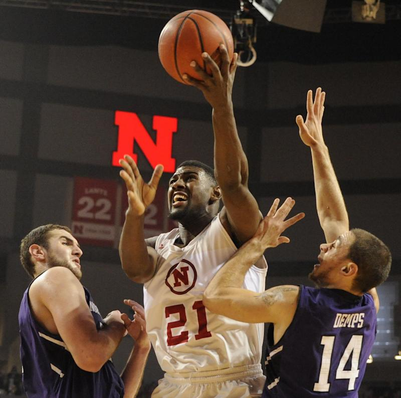 Shields leads Nebraska over Northwestern 54-47