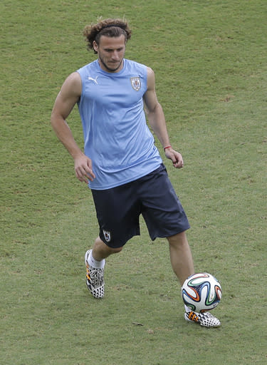 Forlan starts up front for Uruguay