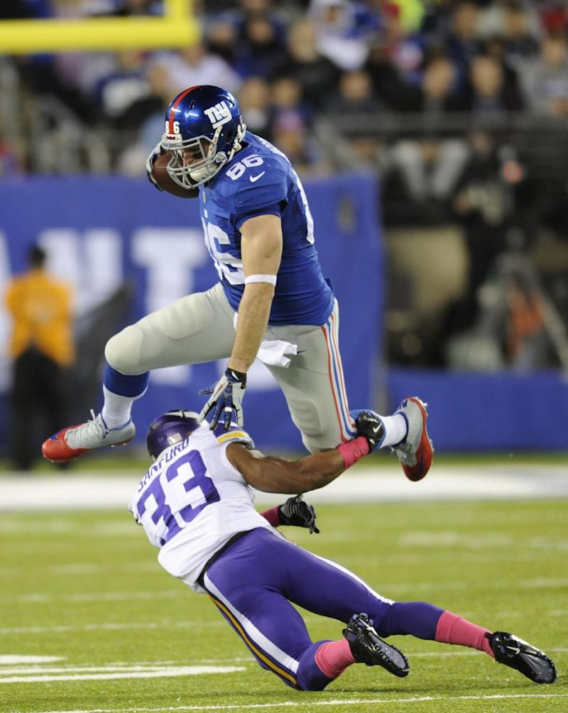 Giants finally win, beat punchless Vikings 23-7