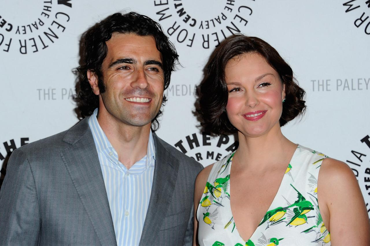 "BEVERLY HILLS, CA - APRIL 10:  Racecar driver Dario Franchitti and actress Ashley Judd arrive to The Paley Center for Media presents A Screening of ABC's ""Missing"" at The Paley Center for Media on April 10, 2012 in Beverly Hills, California.  (Photo by Alberto E. Rodriguez/Getty Images)"