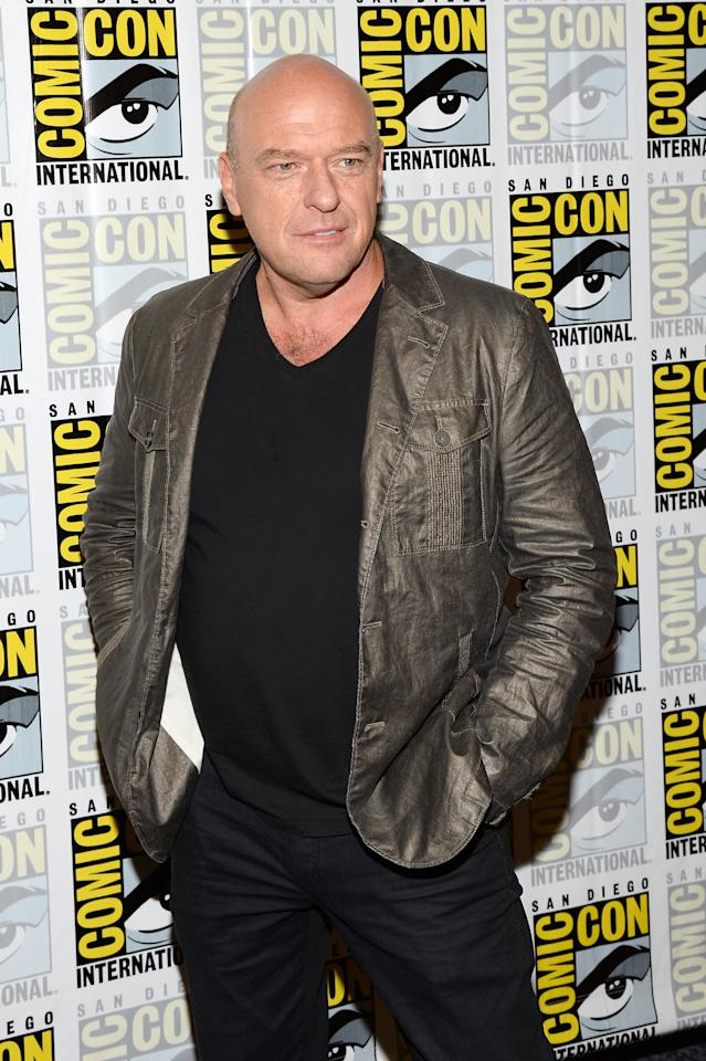 """SAN DIEGO, CA - JULY 20: Actor Dean Norris attends """"Under The Dome"""" Press Line during Comic-Con International 2013 at Hilton Bayfront on July 20, 2013 in San Diego, California. (Photo by Ethan Miller/Getty Images)"""