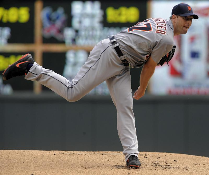 Martinez has 4 RBIs to pace Tigers over Twins