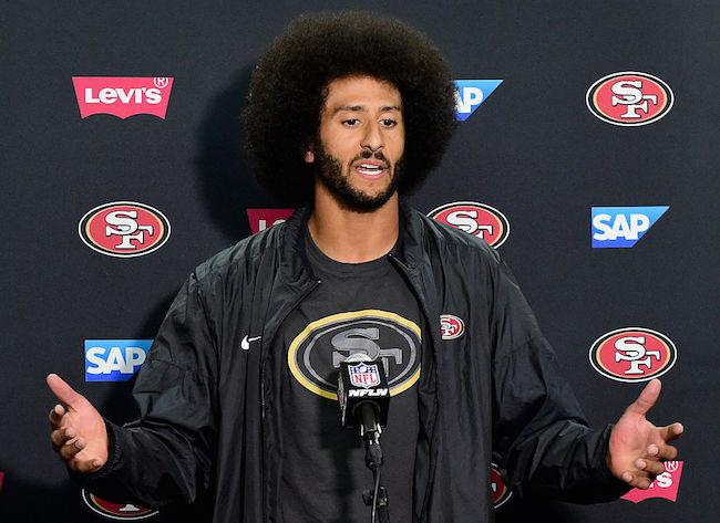 Colin Kaepernick refuses to stand for the national anthem again