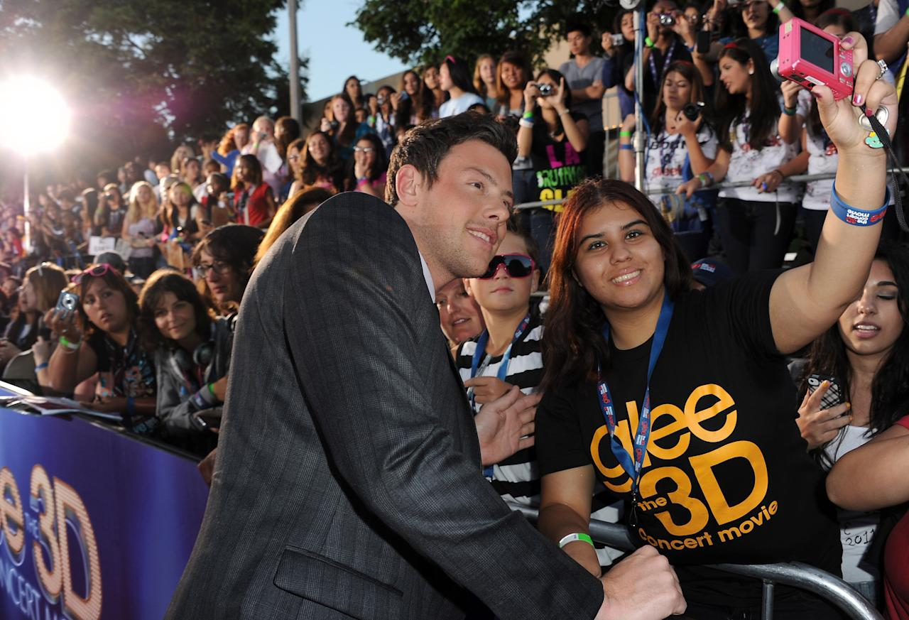 "WESTWOOD, CA - AUGUST 06:  Actor Cory Monteith arrives at the premiere of Twentieth Century Fox's ""Glee The 3D Concert Movie"" held at the Regency Village Theater on August 6, 2011 in Westwood, California.  (Photo by Kevin Winter/Getty Images)"