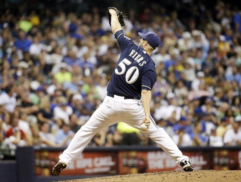 Fill-in Fiers making a pitch for Brewers rotation