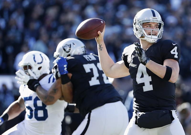 There is a slim chance Derek Carr could make it back by the Super Bowl if the Oakland Raiders make it. (AP)
