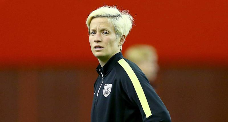 Seattle Reign's Rapinoe kneels during anthem again, before US match vs. Thailand