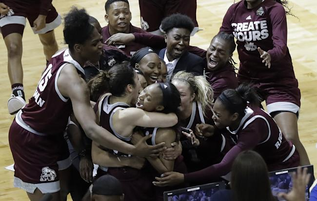It's all SEC for women's title after Mississippi St stunner