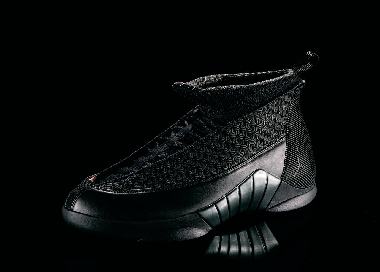 "<p>Air Jordan XV - ""Speed of Sound"" (200o): MJ retires again, prompting the XVs to feature the numbers 23/6/15 on the heal of the shoe: his jersey number, number of NBA titles and number of Air Jordans. (Photo Courtesy of Nike)</p>"