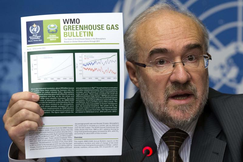UN says greenhouse gases at record high in 2011
