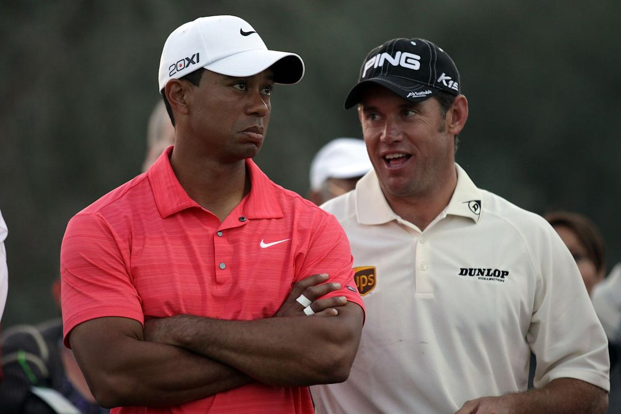 Tiger Woods is a target of Lee Westwood's Ryder Cup trash talk