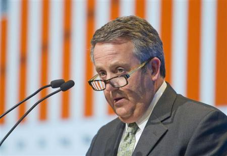 BNSF Railway Chairman and CEO Rose speaks during the IHS CERAWeek energy conference in Houston