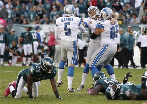 Lions rally to beat Eagles 26-23 in OT