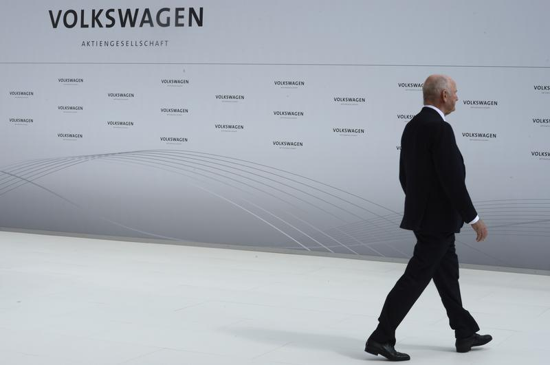 Piech, chairman of the supervisory board of Volkswagen is pictured during a welcome ceremony at the plant of German carmaker Volkswagen in Wolfsburg.